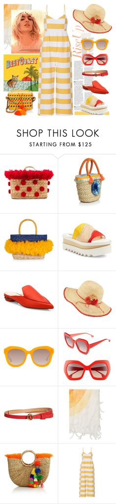 """""""Welcome to Paradise: Tropical Vacation"""" by yours-styling-best-friend ❤ liked on Polyvore featuring Nannacay, Milly, STELLA McCARTNEY, Nicholas Kirkwood, Frontgate, Alice + Olivia, JADEtribe and Mara Hoffman"""