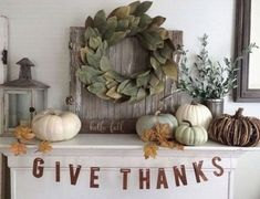 Beautiful farmhouse mantel and fireplace fall decor for the Autumn season!45 STUNNING CRAFTY DIY FARMHOUSE FALL DECOR IDEAS #diy #diycrafts #diydecoratingideas