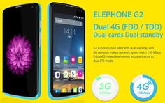 Elephone G2 with Dual 4G LTE and Android Lollipop at US $100