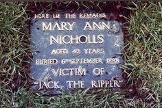 mary ann nicholls...Jack the Ripper victim. 1888.