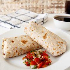 Freeze ahead Bean and Egg Burritos - under 200 calories!