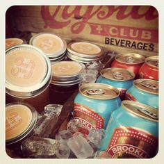 pre-made micheladas in labeled mason jars : BK's birthday