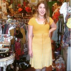 Michelle looks radiant in her new lightweight knit dress she just scored at the shop!