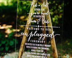 Acrylic Wedding Welcome Sign Clear Acrylic Welcome Sign Wedding Themes, Wedding Decor, Wedding Ideas, Rustic Wedding, Wedding Inspiration, Wedding Dresses, Wedding Mirror, Unplugged Wedding, Ceremony Signs
