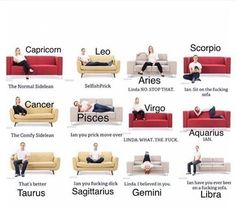 Haha so true for me whose a Cancer and the hubs whose a Pisces. Literally sitting this way right now ♋️
