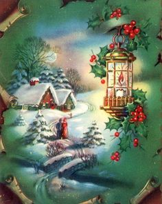 Vintage Victorian Christmas Card Quilting Block Fabric Block 4 Quilt Applique…