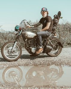 All Men collections. Explore all CSMD apparel and accessories for men Vintage Motorcycles, Custom Motorcycles, Custom Bikes, Cars And Motorcycles, Bobber Chopper, Dad Day, Bike Rider, Triumph Bonneville, Choppers