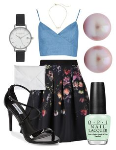 """Sophie"" by alisonesther on Polyvore featuring Ted Baker, Boohoo, Olivia Burton, OPI, Kate Spade and Steve Madden"