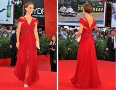 Natalie Portman Red Dress ....love this dress.