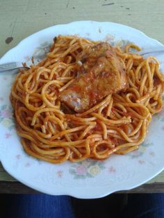 Spaguetti with Pork (Adobao)