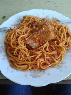 Spaguetti with Pork (Adobao)