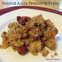 I am happy to report that this recipe for coconut apple cranberry crisp is gluten free, grain free, dairy free, AND nut free... and just as delicious as the junk filled crisp I used to make!