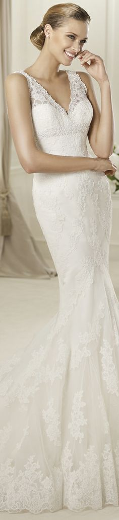 "Pronovias wedding dress ""Diango"", 2013 Collections. #robe #mariee #dentelle #wedding #dress #lace"