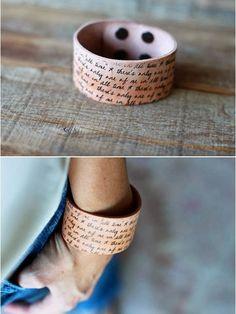 DIY : Glittery Leather Cuff w/ Transfer   DIY & Crafts Tutorials