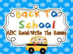 This is ABC pack is perfect for letter identification, writing practice, and review! I have provided a response sheet for write the room (write the...