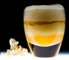 Liquid Popcorn with Caramel Froth | Molecular Recipes