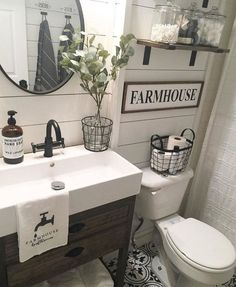 58 Inspiring Farmhouse Bathroom Remodel Ideas