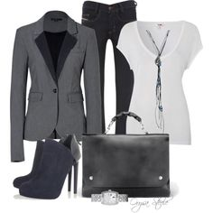 A fashion look from September 2012 featuring LnA t-shirts, Rachel Zoe blazers and Diesel jeans. Browse and shop related looks.