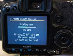 Canon DSLR Tips firmware updates