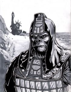 Sketch done for a a guy at school. His sketchbook theme was Planet of the Apes so it was pretty cool, as I've never drawn anything from that franchise b. Planet of the Apes Sketch Dystopian Future, Planet Of The Apes, Cornelius, 8th Of March, Classic Films, Tim Burton, Comic Art, Planets, Character Design