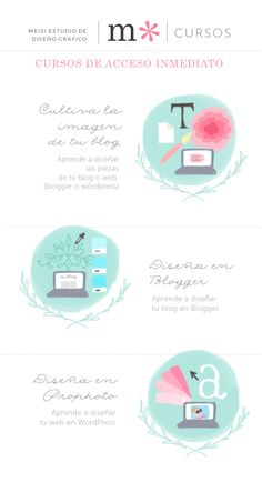 Mis cursos de diseño para bloggers, ahora con acceso inmediato. #cursosonline  #blog  #graphicdesign