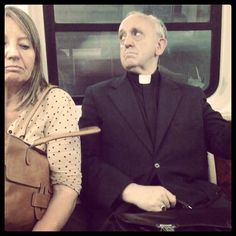 Pope Francis on the bus... Proud to say this is our humble Pope! He is bringing a new life to our religion and showing the human race how to be human again, through love and compassion... <3