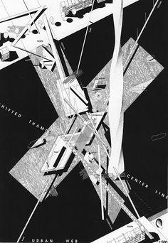 Habitable Bridge, London, by Daniel Libeskind Chinese Architecture, Architecture Drawings, Concept Architecture, Futuristic Architecture, Architecture Design, Paper Architecture, Architecture Office, Daniel Libeskind, Lebbeus Woods