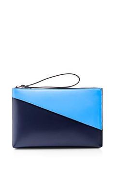 Calf leather zip bicolor pochette by MARNI Available Now on Moda Operandi