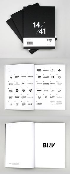 – 14 Years, 41 Logos is the first book from Mash Creative founder Mark Bloom. Produced as a limited run, the book showcases 41 of his favourite logos designed during a 14 year career. Brochure Layout, Brochure Design, Editorial Layout, Editorial Design, Book Design, Web Design, Design Layouts, Resume Design Template, Resume Templates