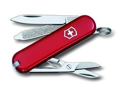 Victorinox Unisex Signature Swiss Army Knife Blade, Red, mm - Swiss Made Keyring sized Knife Supplied individually packaged with a lifetime guarantee. Backpacking Gear, Camping And Hiking, Camping Gear, Victorinox Classic, Victorinox Swiss Army, Hiking Wear, Scouts Of America, Eagle Scout, Swiss Army Knife