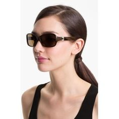 Women's kate spade new york 'annika' 56mm polarized rectangular sunglasses - Brown