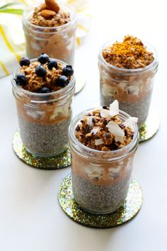 Overnight chia pudding and coffee cacao oats - jjbegonia