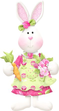 Rabbit with flowers