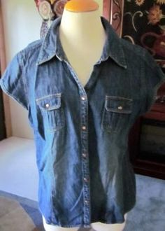 NEW! Old Navy snap front denim top FREE SHIP!!