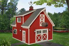 Craftsman Plan: 838 Square Feet, 1 Bathroom - 035-00857 Garage Apartment Plans, Garage Apartments, Barn House Plans, Barn Plans, Garage Design, House Design, Garage Plans With Loft, Garage Ideas, Carport Ideas