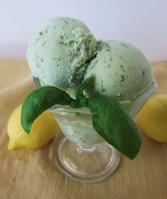 #Vegan Lemon Basil Ice Cream has such a refreshing and unique flavor, plus the coconut-milk base adds amazing sweetness.