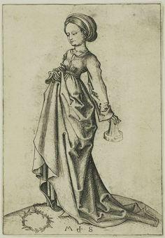 The Second Foolish Virgin by Martin Schongauer, c. 1480s; Colmar