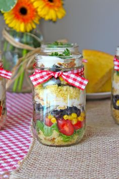 Cornbread Salad in a Jar