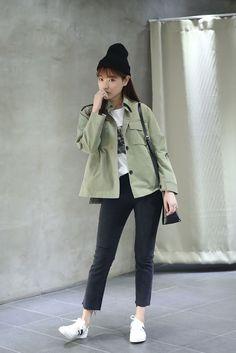 10's trendy style maker en.66girls.com! Metal Loop Accent Jacket (DGHQ) #66girls #kstyle #kfashion #koreanfashion #girlsfashion #teenagegirls #fashionablegirls #dailyoutfit #trendylook #globalshopping