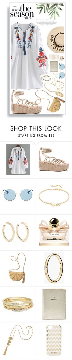 """Untitled #1512"" by style-and-chic-boutique ❤ liked on Polyvore featuring WithChic, Schutz, Ray-Ban, Jennifer Zeuner, Kenneth Jay Lane, Salvatore Ferragamo, Mar y Sol, Pandora, Jules Smith and FOSSIL"