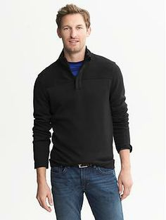 For Trav, Large, I think the blue color would be nice: Ribbed Half-Zip Pullover