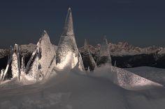 Ice Skyline by #MarcoNones - photo Eugenio Del Pero @respirart1 #art #Dolomiti