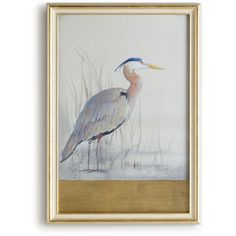 John-Richard Collection Keeping Watch I (Right Facing) Heron Print ($501) ❤ liked on Polyvore featuring home, home decor, wall art, multi colors, colorful home decor, framed wall art, john richard wall art, colorful wall art and silhouette wall art