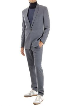 Martin Margiela virgin wool suit one button (art. S30FT0046 S42064 508M)