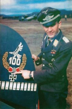 Lieutenant Theodore Vaysenberger have his fighter at the airfield Petsamo