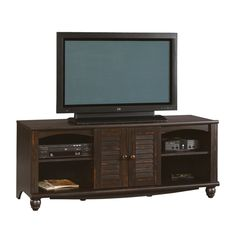 """TV Stand Console Cabinet Entertainment Center DVD Media Gaming Storage 60"""" Brown #SWCo #RusticPrimitive"""