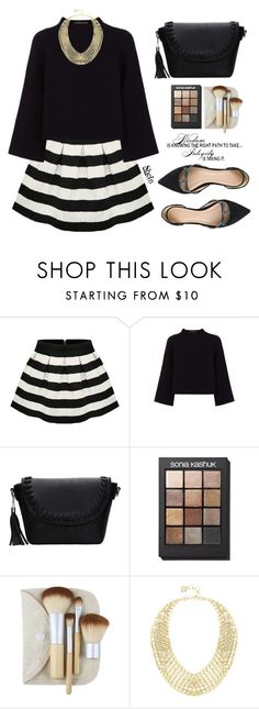 """""""Miss Shein"""" by mycherryblossom ❤ liked on Polyvore featuring Jaeger, Sonia Kashuk, BCBGMAXAZRIA, J.Crew, fab, simpleset, polyvoreeditorial and polyvorestyle"""