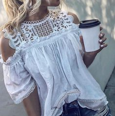 Emilie™ the Gorgeous Off-Shoulder Top – Nalai & Co: Style is gorgeous, but sizes are small. White Shirts Women, Bohemian Tops, Lace Ruffle, Summer Shirts, Off Shoulder Tops, Women's Leggings, Sport, Cute Outfits, Jeans
