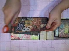 Tim Holtz Lost Paper Bag Mini Album Series Episode 2 (PART 1 of 2) by @Kathy Orta (Feb 2011)