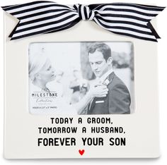 Mom of the Groom Wedding Gift Ceramic Picture Frame